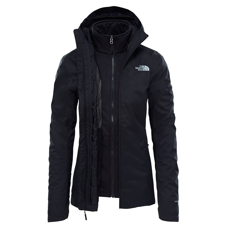 THE NORTH FACE GIACCA DONNA TANKEN TRICLIMATE JK3 NERO  ac3df06b65b9