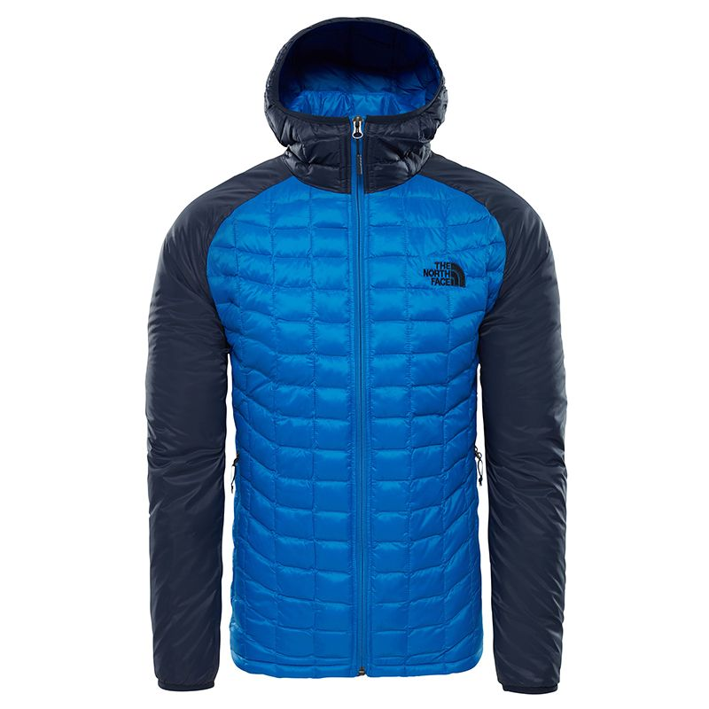 THE NORTH FACE GIACCA UOMO THERMOBALL CON CAPPUCCIO 1SK BLU  f5df1af81db6