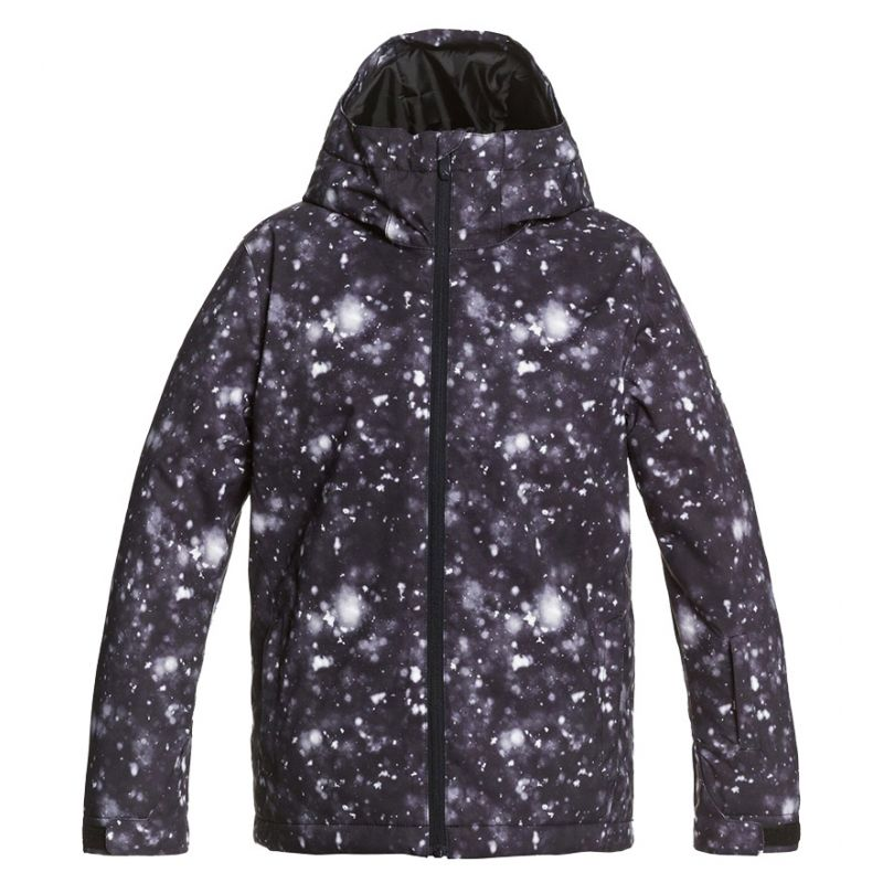 QUIKSILVER GIACCA SNOW UOMO MISSION PRINTED KVJ5 TRUE BLK WOOLFLAKES | DF Sport Specialist